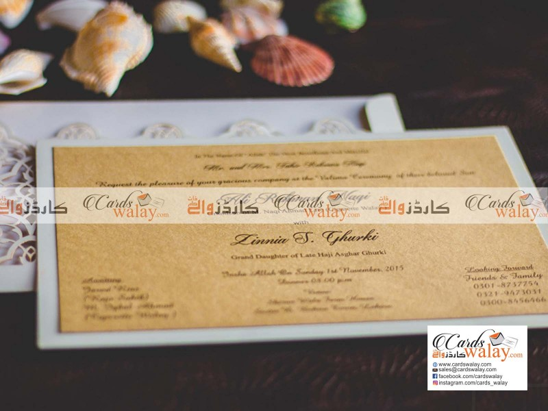Flat Wedding Invitation PL0030